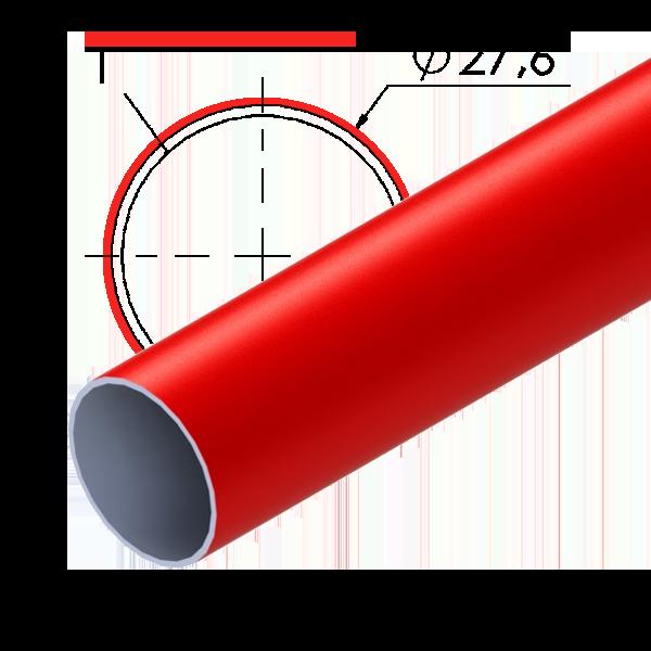 rood gecoate stalen buis 276x1mm l4m