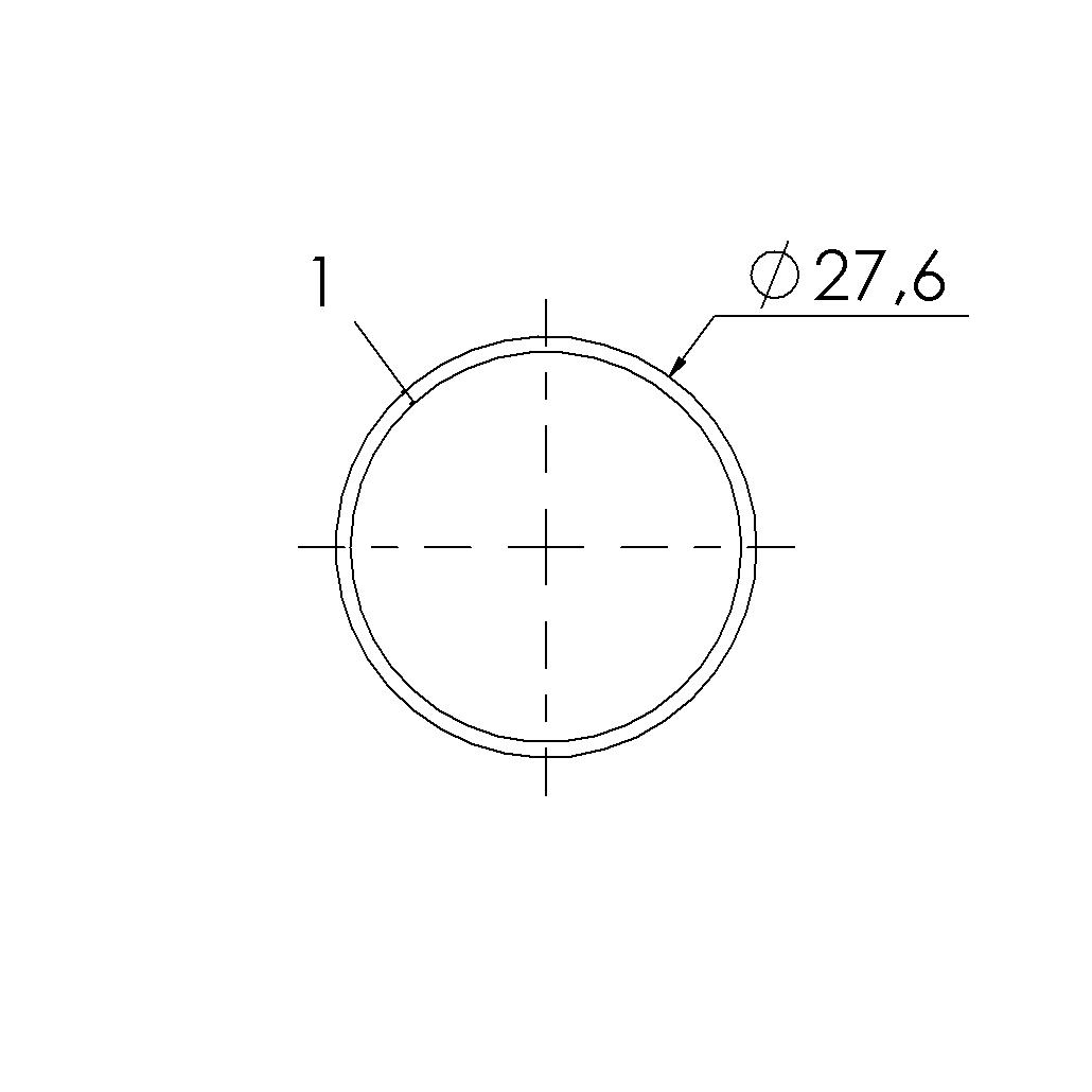 grijs gecoate stalen buis 276x1mm l4m