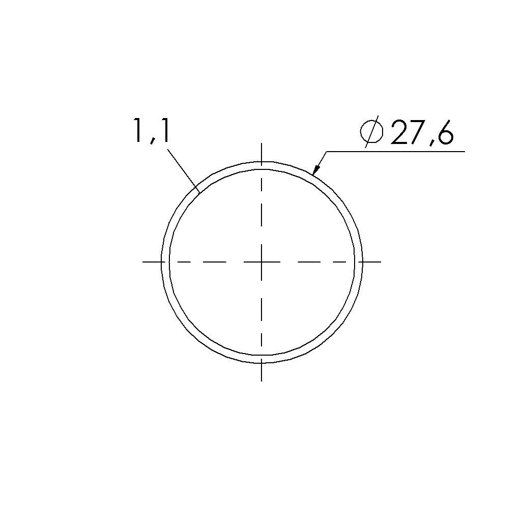 rvs buis 276x11mm rvs430 l4m