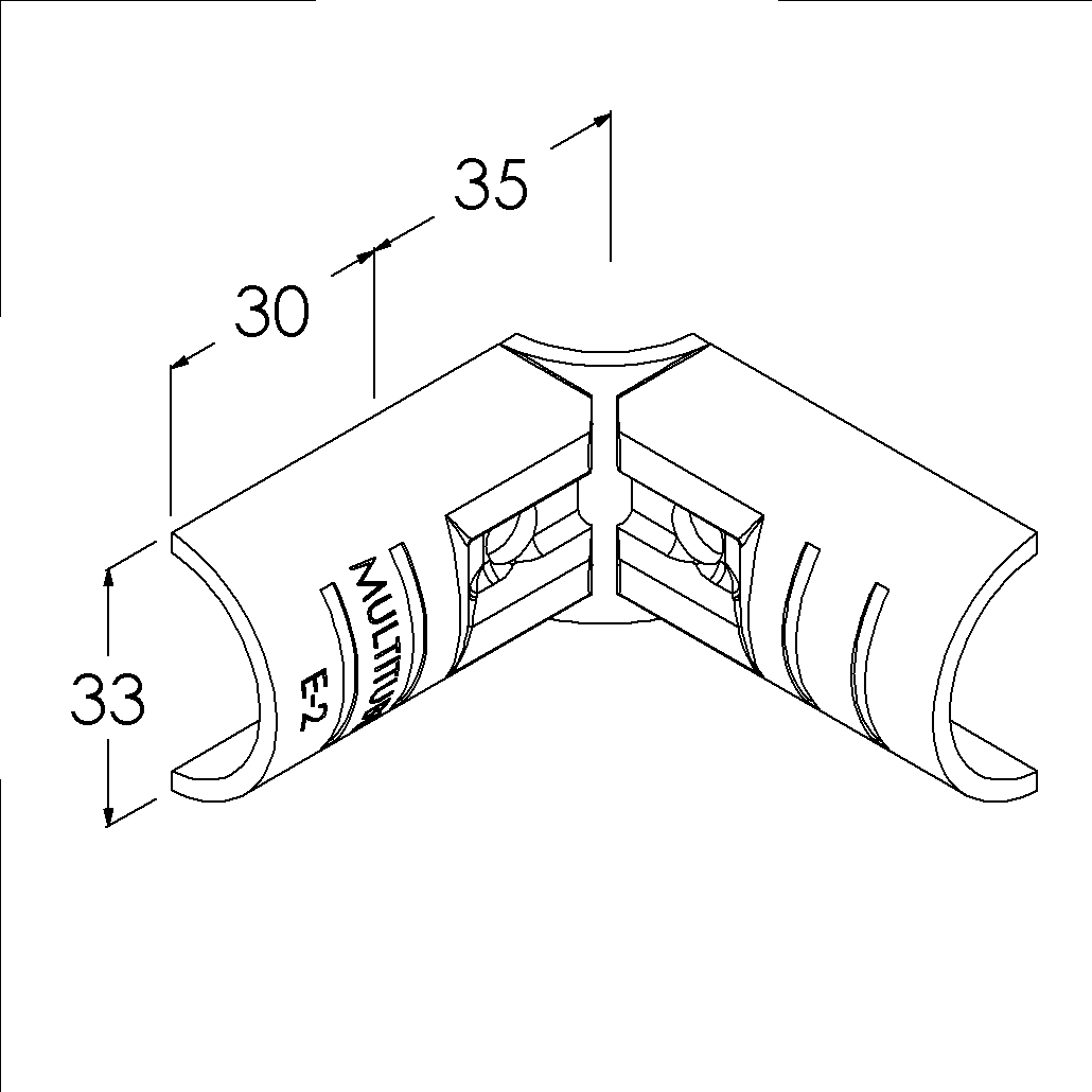 e2bk buisverbinder hoekstuk 90 binnendeel