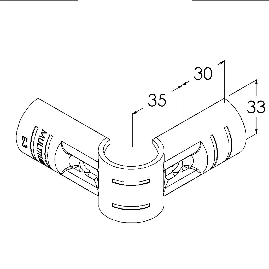 e3bk buisverbinder hoekstuk 90 buitendeel
