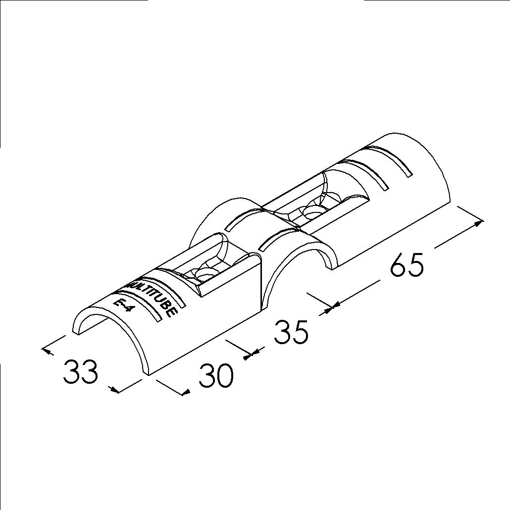 e4bk buisverbinder kruisstuk