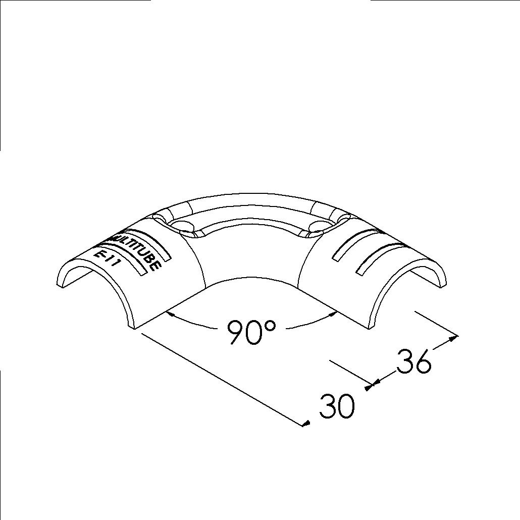 e11bk buisverbinder hoekstuk 90 rond