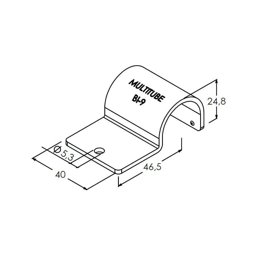 bi9 buis zadelklem voor hoeksteun