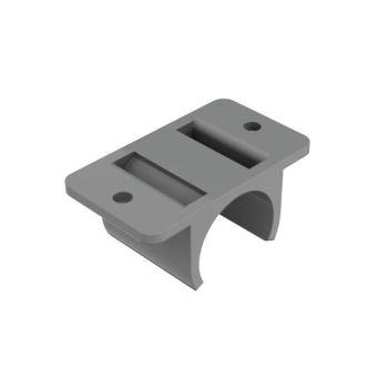 KB-3, kunststof buisverbinder, plaatmontage, vlak, dubbel
