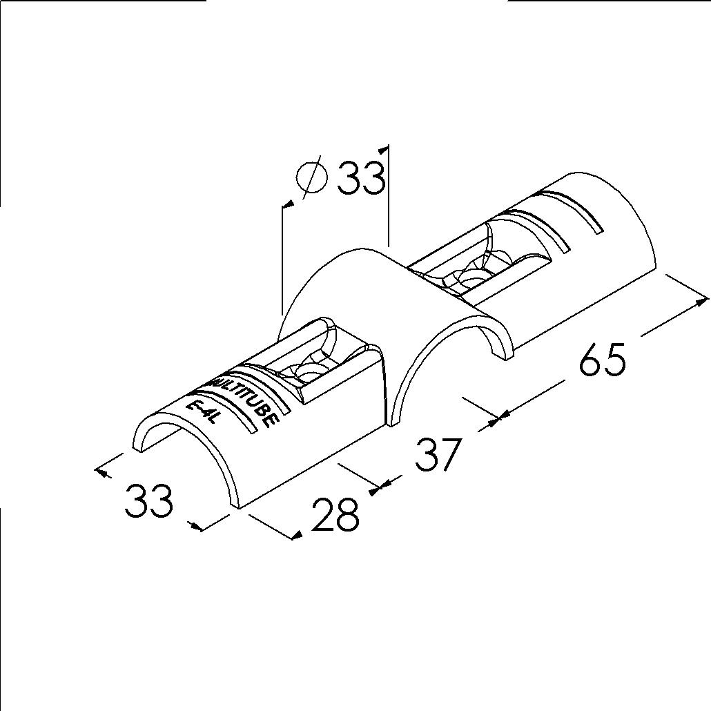 e4lsv buisverbinder kruisstuk overmaat