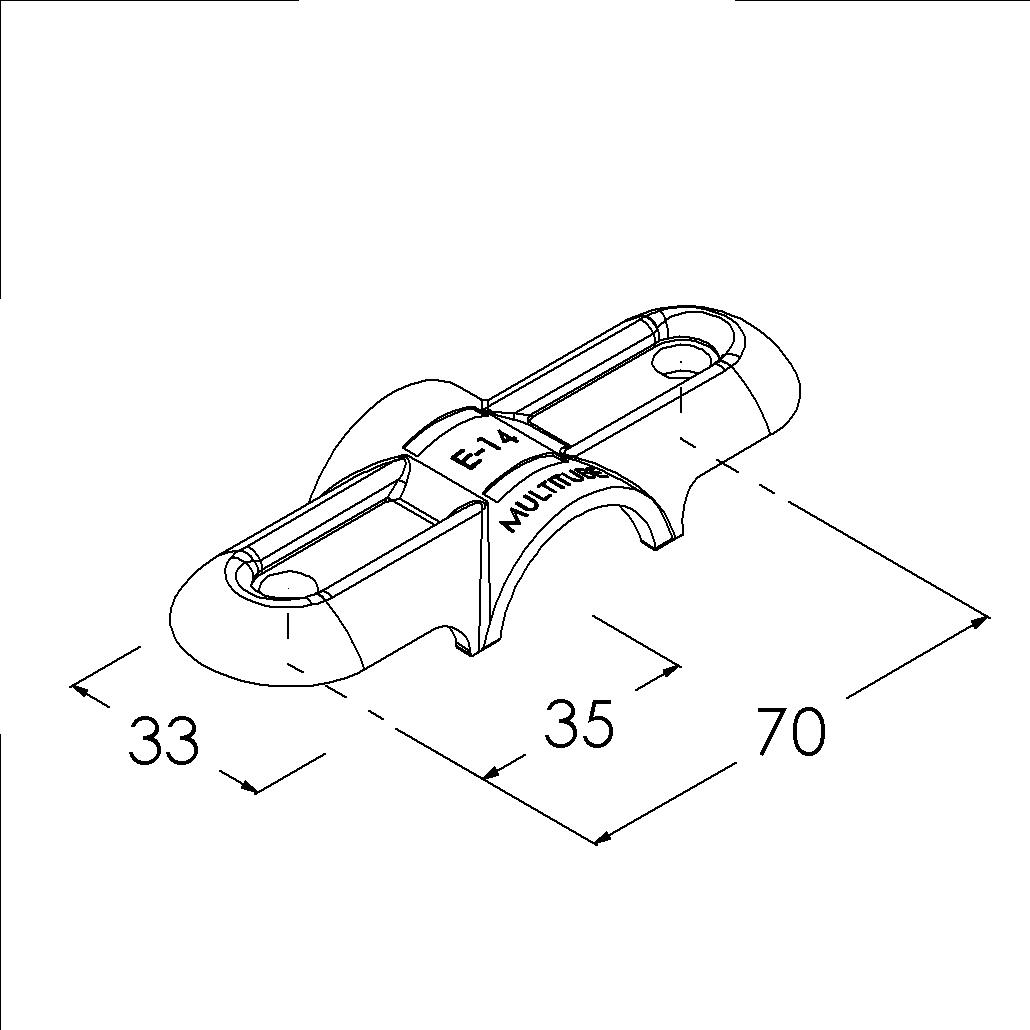 e14sv buisverbinder hoekstuk 0180 dubbel buitendeel