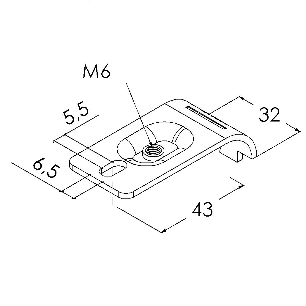 e15asv buisverbinder montagestuk 65mm slobgat