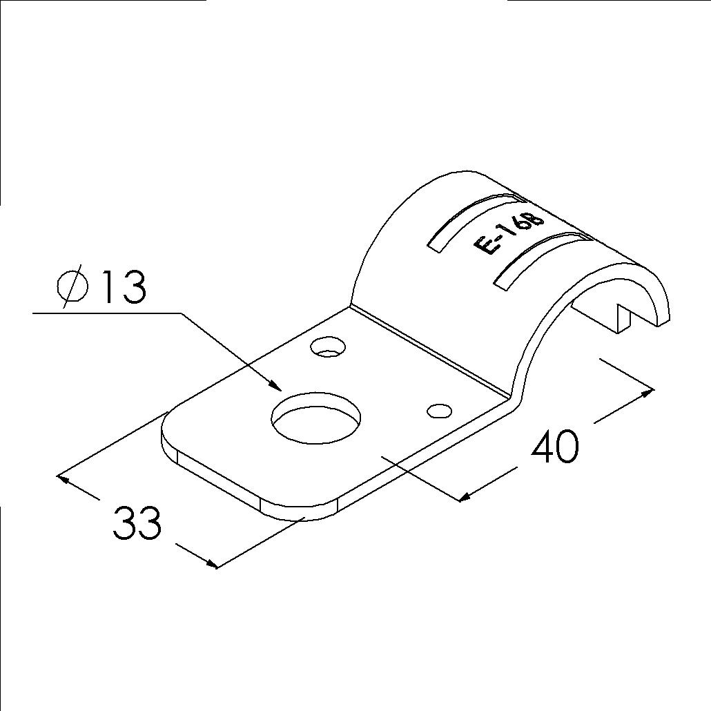 e16bsv buisverbinder montagestuk 13mm gat