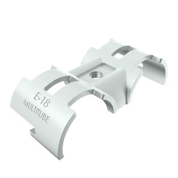 E-18-SV, buisverbinder, parallelstuk, tweezijdig draaibaar