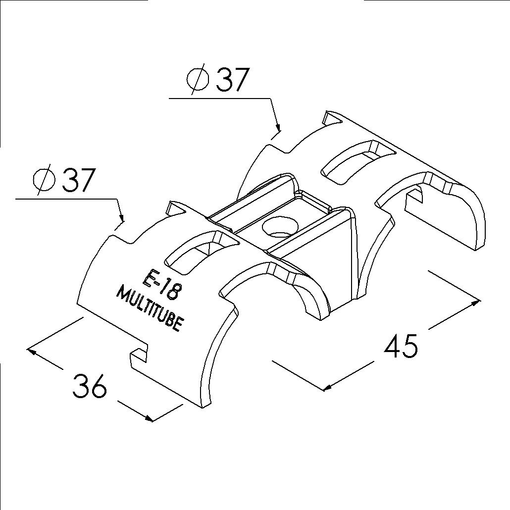 e18sv buisverbinder parallelstuk tweezijdig draaibaar