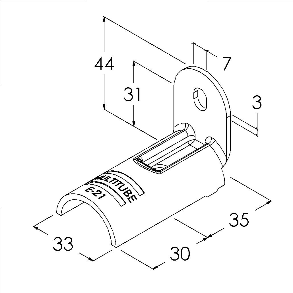 e21sv buisverbinder montagestuk