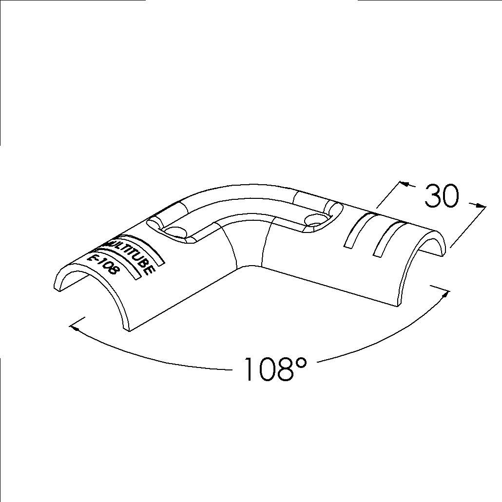 e108sv buisverbinder hoekstuk 108