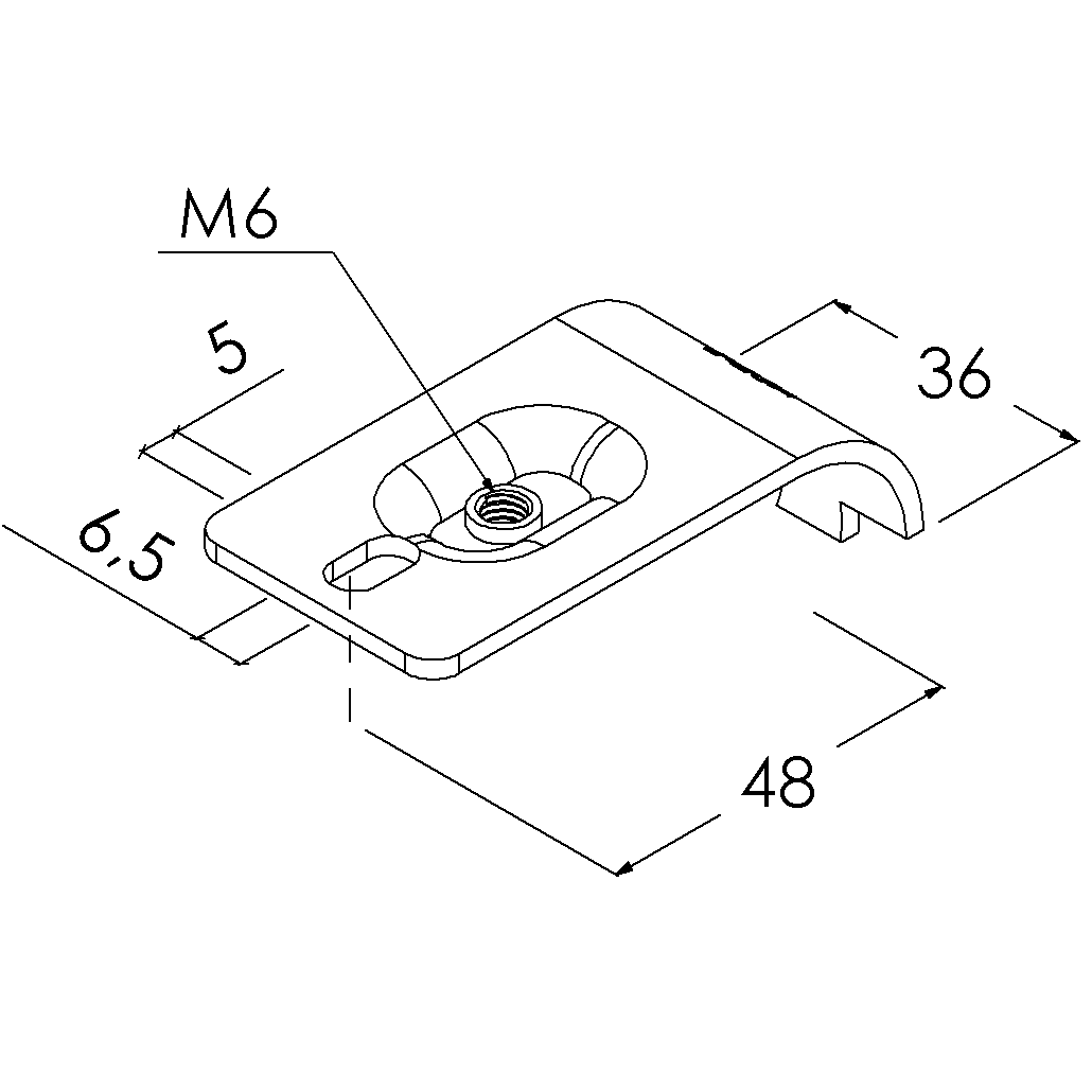 e25asv buisverbinder montagestuk 65mm slobgat draaibaar