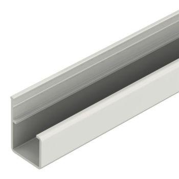 Rollenrail geleiding profiel recht, grijs, L=3m