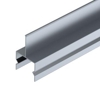 Rollenrail geleiding profiel midden, aluminium, L=4m