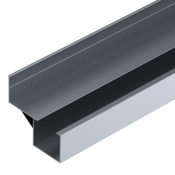 Rollenrail geleiding profiel offset, aluminium, L=4m