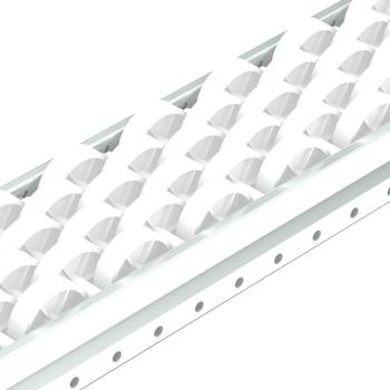 Rollenrail, versprongen, vlak, 80mm, L=4m