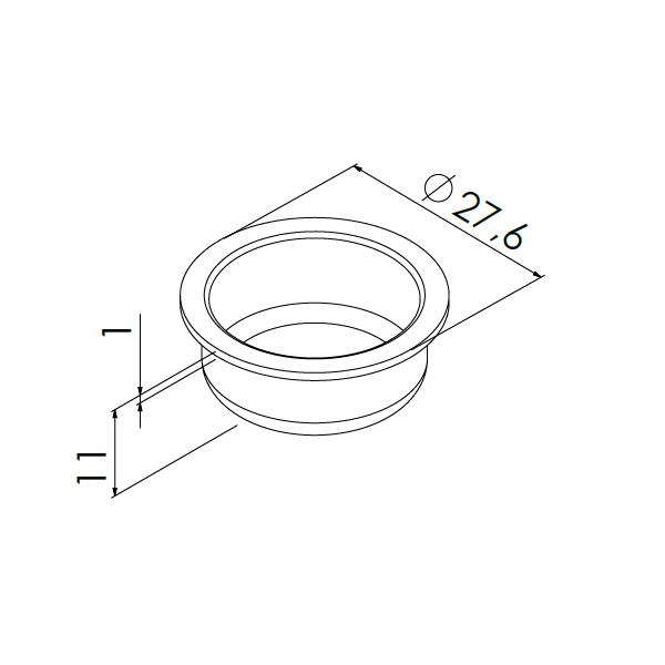 inslagdop voor pp 1 mm buis staal