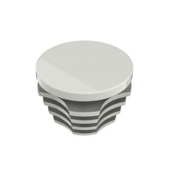 Afdekdop pvc grijs ø 28 mm