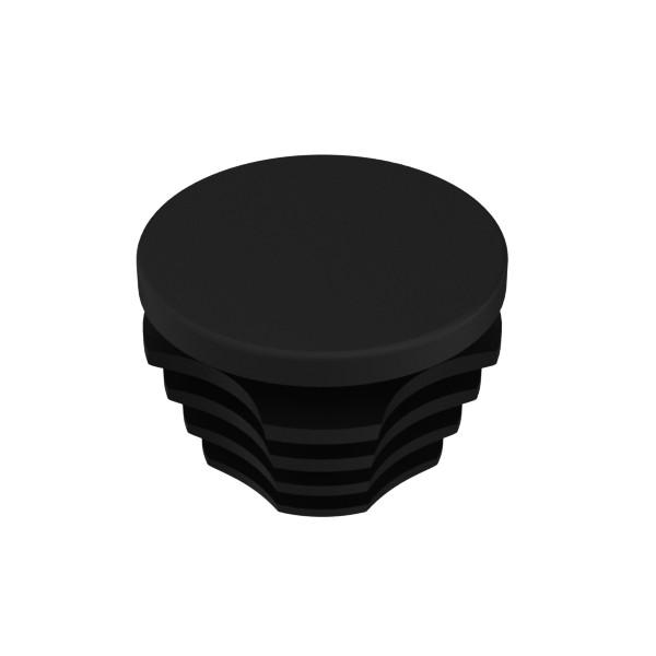 afdekdop pvc zwart 28 mm
