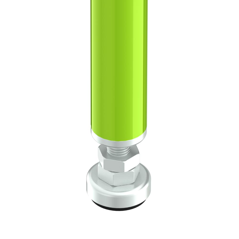 stelvoet m12 l100mm 32mm antislip esd
