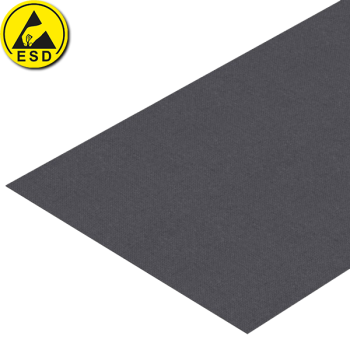 Polyester werktafelmat, esd, grijs