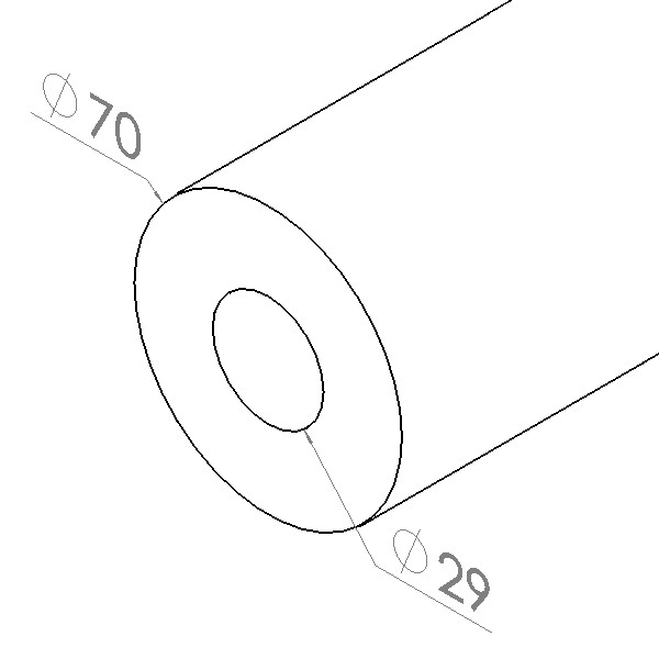 buisfoam rood 29x70mm l2m