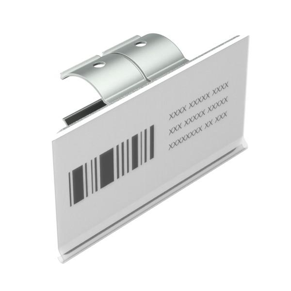 etikethouder voor enkele buis l100mm h52mm