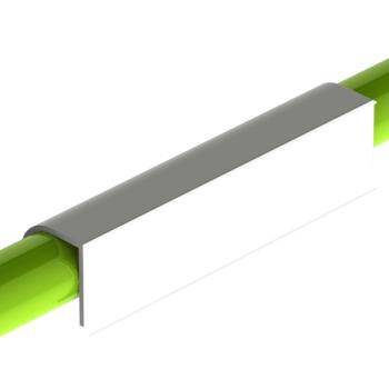 Etikethouder, L=150mm, h=35mm, kunststof