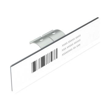 Etikethouder voor enkele buis, L=150mm, h=35mm