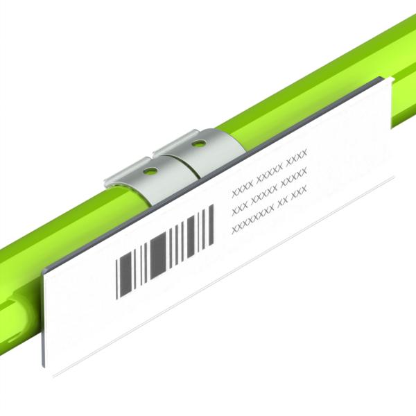 etikethouder voor enkele buis l150mm h35mm