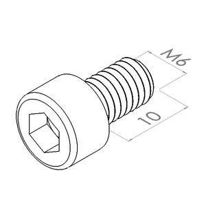 m6x10 cilinderkopschroefbzk