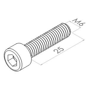 m6x25 cilinderkopschroefbzk