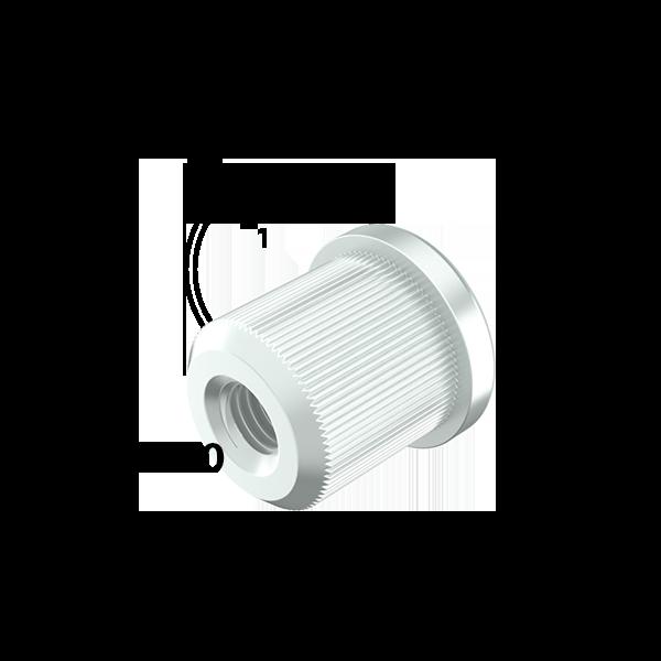 m10 inslagmoer 10mm buis
