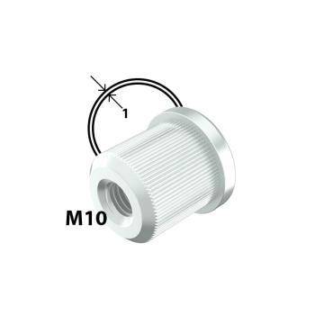 M10 inslagmoer, 1,0mm buis