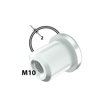 M10 inslagmoer, 2,0mm buis