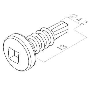 42x13 mm boorschroefpancksqd