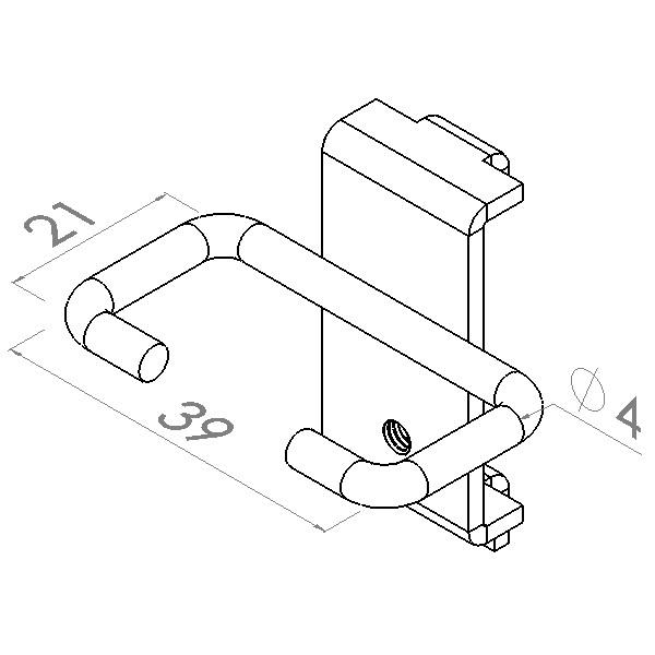 tanghouder 35x17mm max 5kg