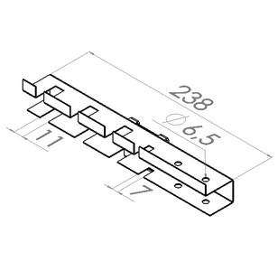 gereedschapshouder l238mm