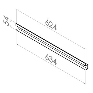 grijpbakhouder rail l634mm