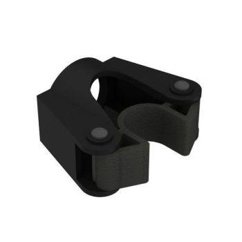Steelklem voor buisbevestiging, zwart, ø15-20mm