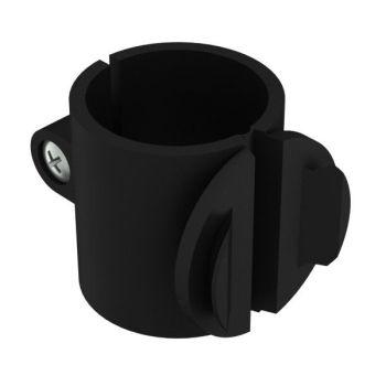 Buisbevestigingsklem, zwart, ø28mm