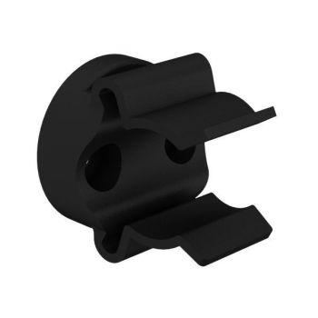 Mickey-clips voor buisbevestigings, zwart, ø17-20mm