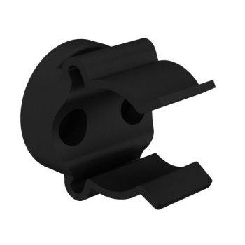 Mickey-clips voor buisbevestigings, zwart, ø21-24mm