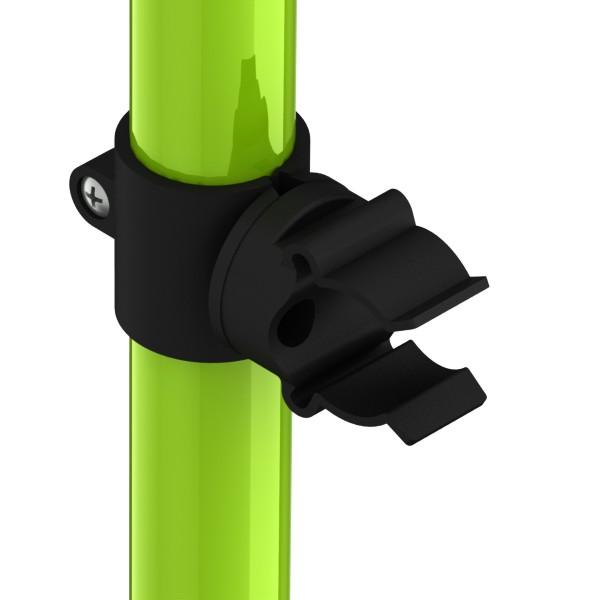 mickeyclips voor buisbevestigings zwart 2124mm