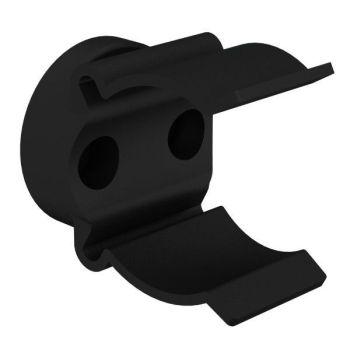 Mickey-clips voor buisbevestigings, zwart, ø29-33mm