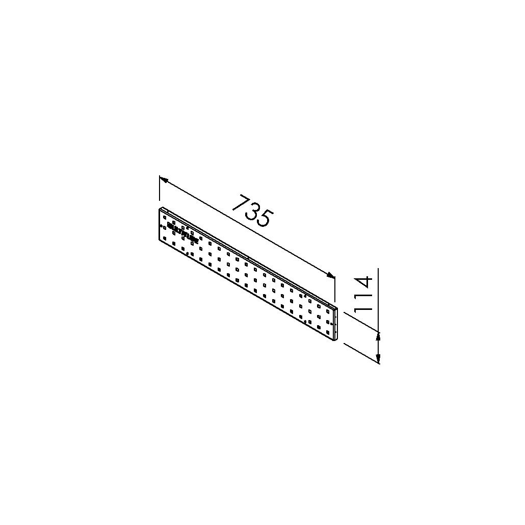 gereedschapsbord 735x114 mm