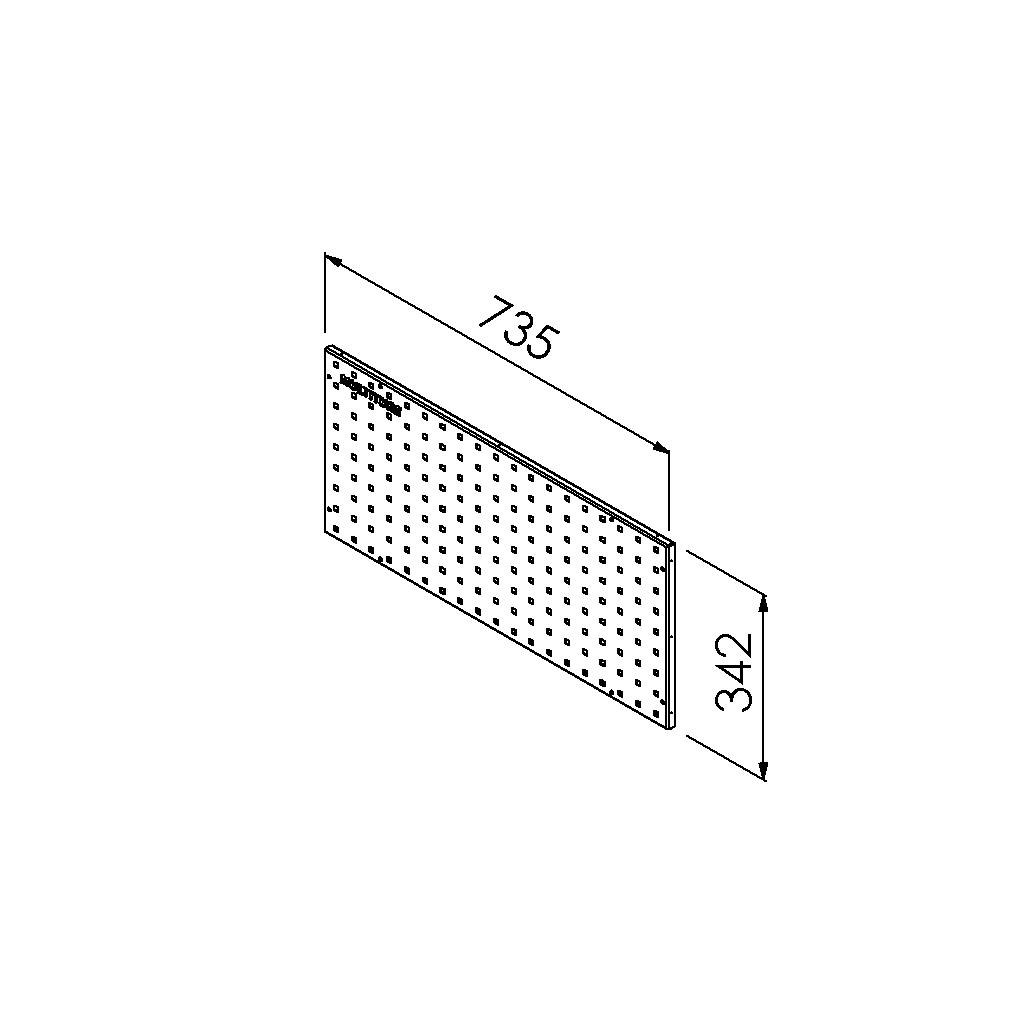 gereedschapsbord 735x342 mm