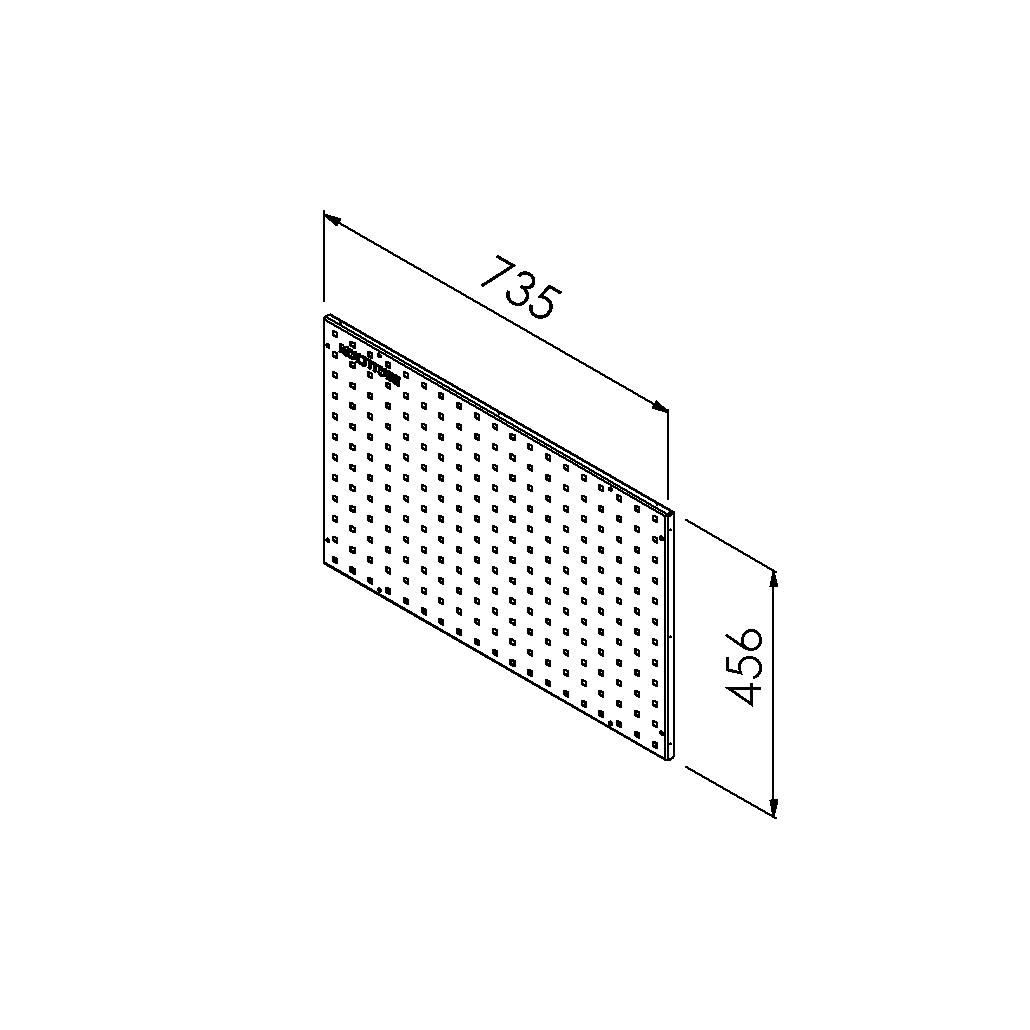 gereedschapsbord 735x456 mm